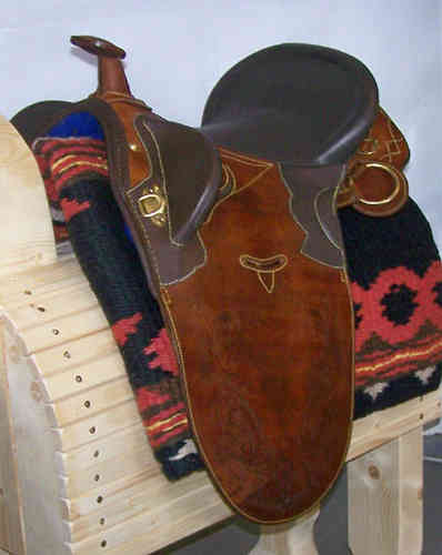 Stocksaddle of oiled leather