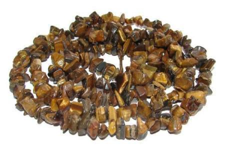 Gemstone splinter necklace tiger's eye