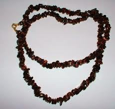 Gemstone splinter necklace red tiger's eye