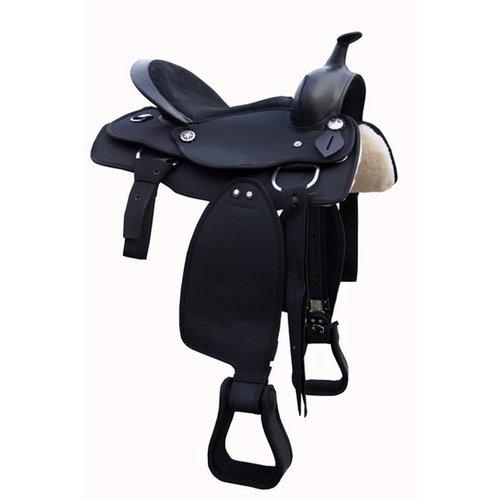 Schwarz Cwell Equine Westernsattel aus Synthetik